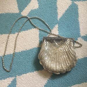 Handbags - Shell Sequin evening purse